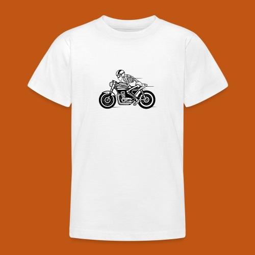 Cafe Racer Motorrad 05_schwarz - Teenager T-Shirt