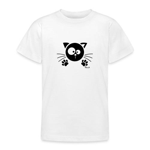 Chat noir Rigolo Drôle Humour Chaton Cat Mignon - T-shirt Ado