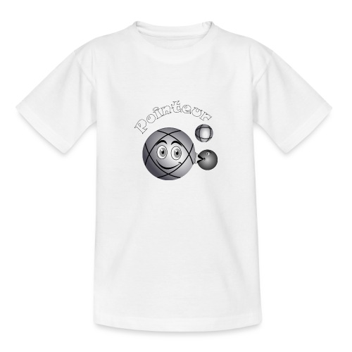 t shirt pétanque pointeur boule existe en tireur B - T-shirt Ado