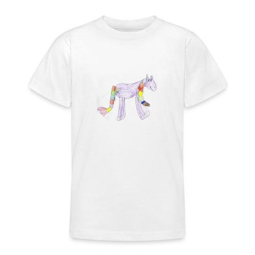 regenboogpaard - Teenager T-shirt