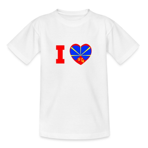 I love 974 - Lo Mahaveli - T-shirt Ado