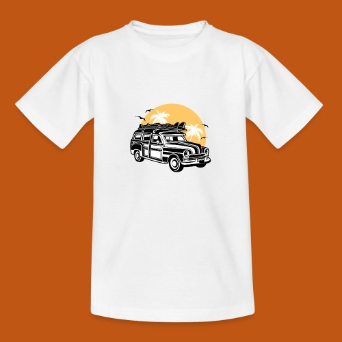 Chevy Cadilac Woodie / Oldtimer Kombi 01_3c - Teenager T-Shirt
