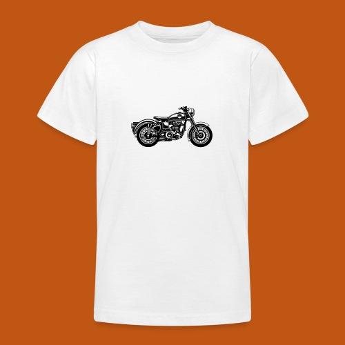 Motorrad / Classic Motorcycle 04_schwarz - Teenager T-Shirt