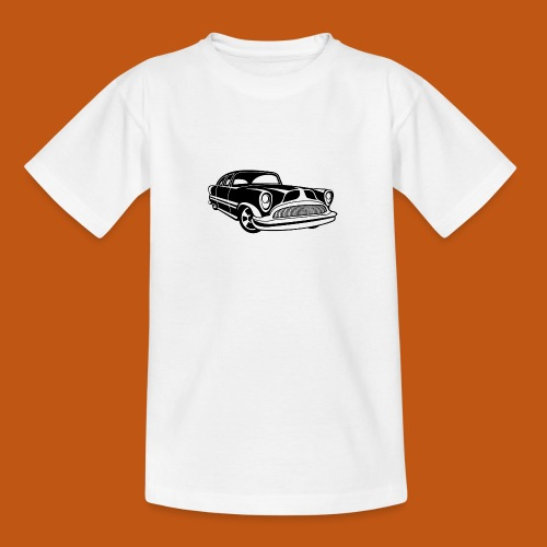 Lowrider / Oldtimer / Muscle Car 03_schwarz - Teenager T-Shirt