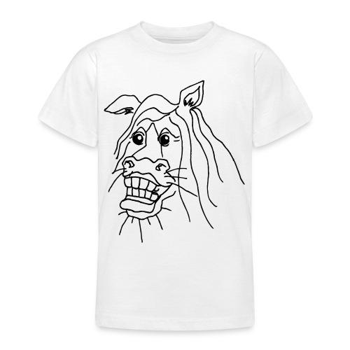 naurava hevonen - Nuorten t-paita