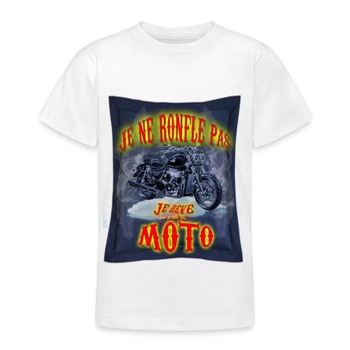 Un motard ne ronfle pas - T-shirt Ado