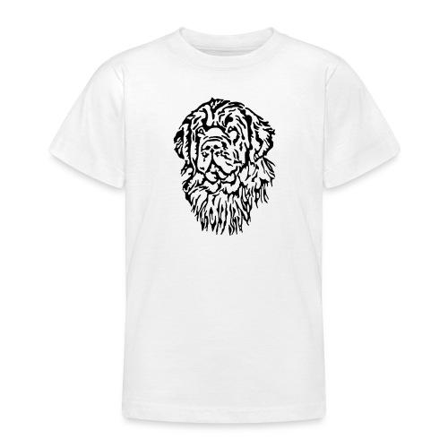 Neufundländer Kopf - Teenager T-Shirt