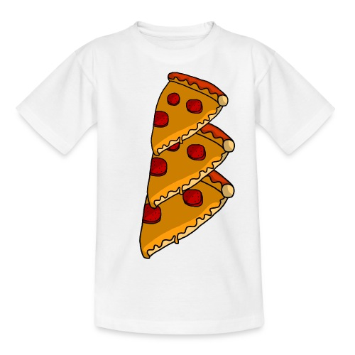 pizza - Teenager-T-shirt