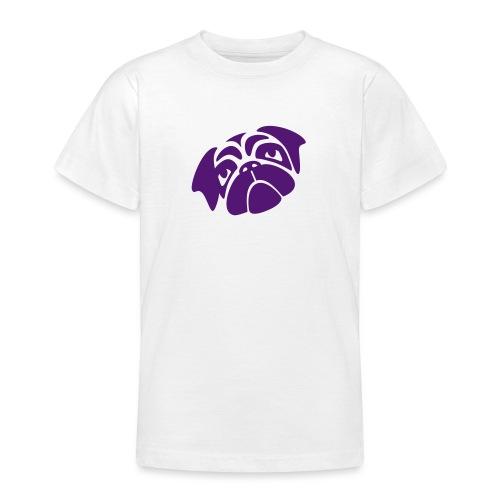 Mops mit schiefen Gesicht - Teenager T-Shirt