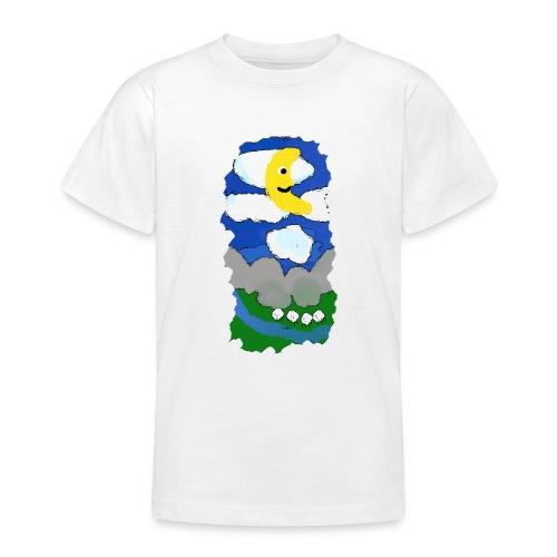 smiling moon and funny sheep - Teenage T-Shirt