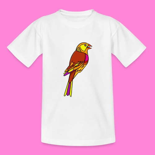 Geelgors illustratie - Teenager T-shirt
