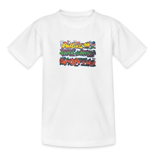 Autism Friendly Shopping Graffiti Style - Teenage T-Shirt