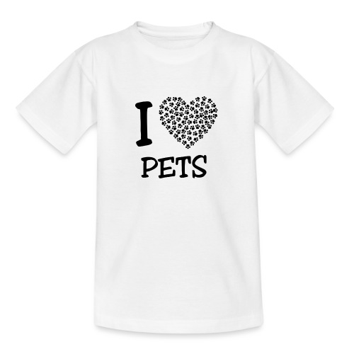 I LOVE PETS - Camiseta adolescente