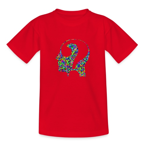 Fragender Kopf - Teenager T-Shirt