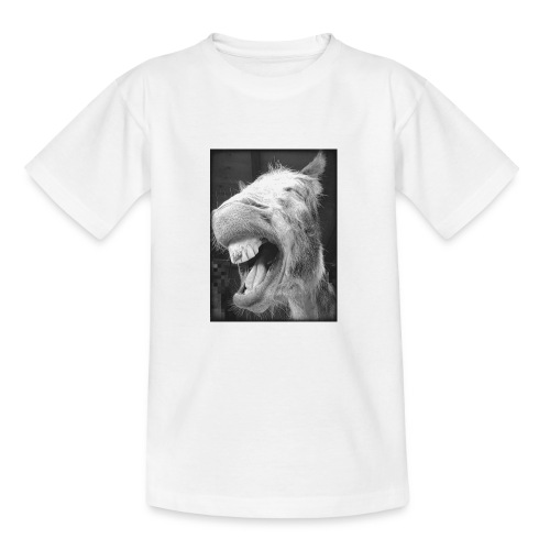 lachender Esel - Teenager T-Shirt