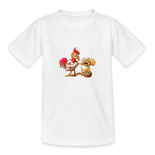 Easter Bunny in Trouble - Teenage T-Shirt