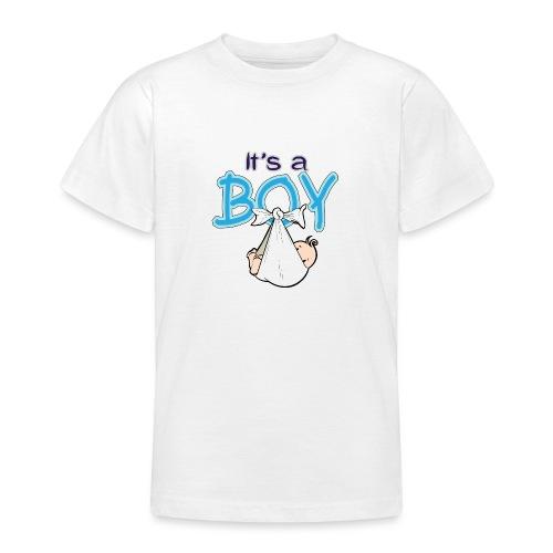 Babyshower Boy Blauw - Teenager T-shirt