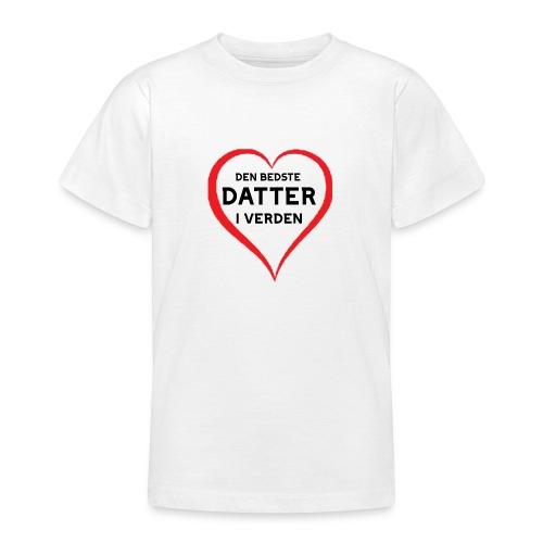 Bedste datter i verden - Teenager-T-shirt
