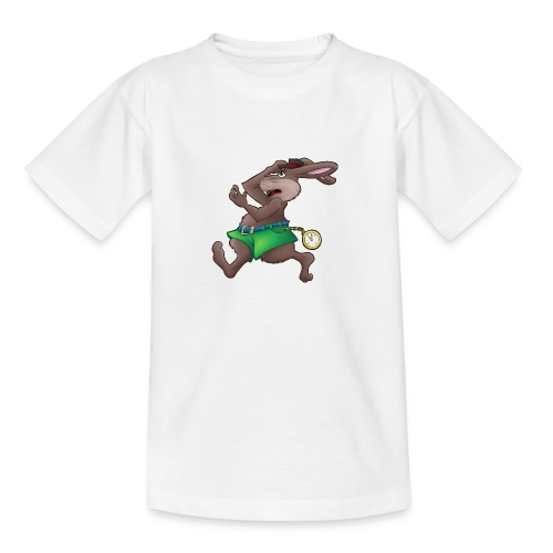 Zu Spät! - Hase mit Uhr - Teenager T-Shirt