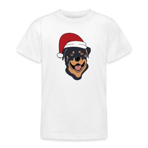 Weihnachtsmann Rottweiler - Teenager T-Shirt