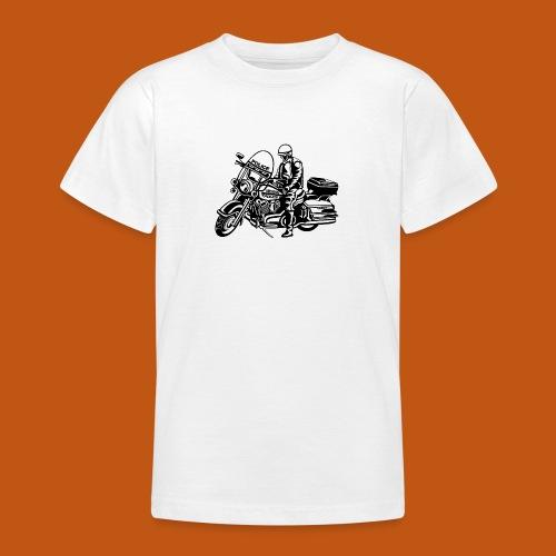 Motorradpolizei / Motorcycle Police 01_schwarz - Teenager T-Shirt