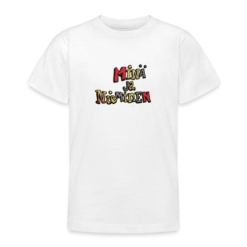 minäjanieminenlogo - Nuorten t-paita