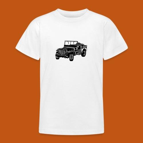 Geländewagen / Jeep SUV 02_schwarz weiß - Teenager T-Shirt