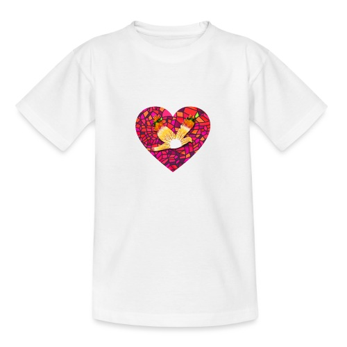 Make your heart fly with peace - Teenage T-Shirt