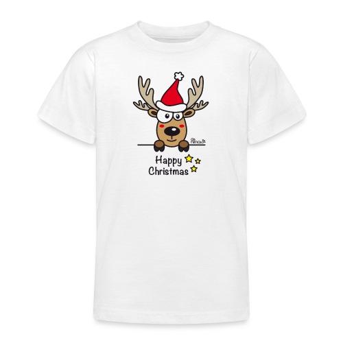 Renne Joyeux Noël - Happy Christmas, Humour, Drôle - T-shirt Ado