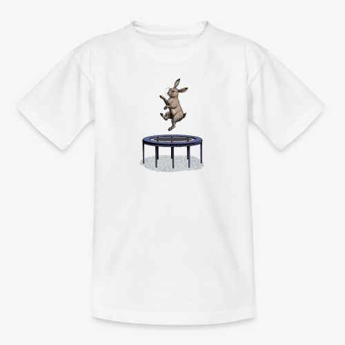 Rabbit Trampoline - Teenage T-Shirt