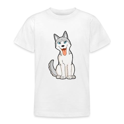 Husky grigio occhi azzurri - Maglietta per ragazzi