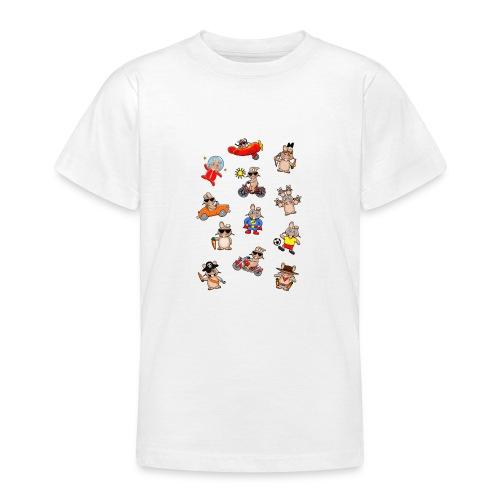 Lustiges Hasenwimmelbild - Teenager T-Shirt