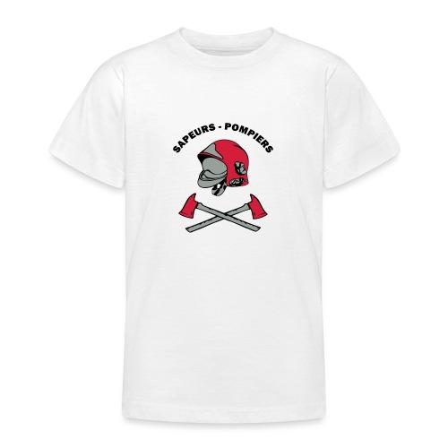 Sapeurs Pompiers petites haches casque Coul - T-shirt Ado