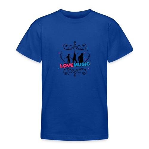 Motif Love Music - T-shirt Ado