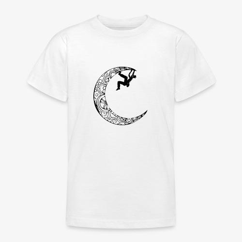 Escaladora en la luna - Woman climber in the moon - Teenage T-Shirt