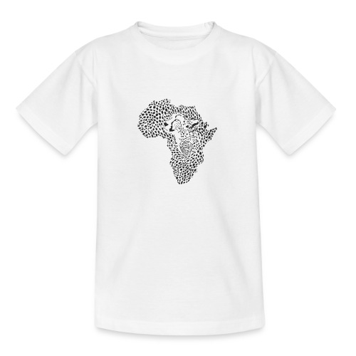 Africa in a cheetah camouflage - Teenager T-Shirt