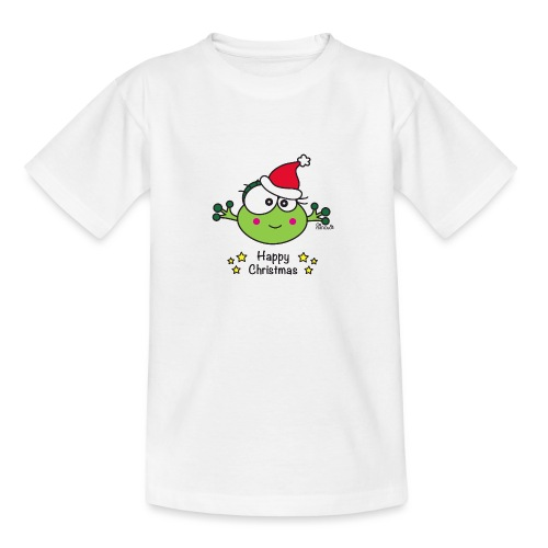 Grenouille F, Frog, Fêtes Nôel, Happy Christmas - T-shirt Ado