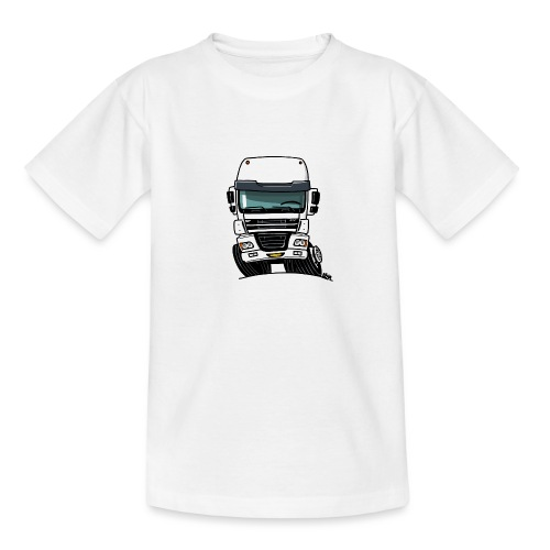0810 D truck CF wit - Teenager T-shirt