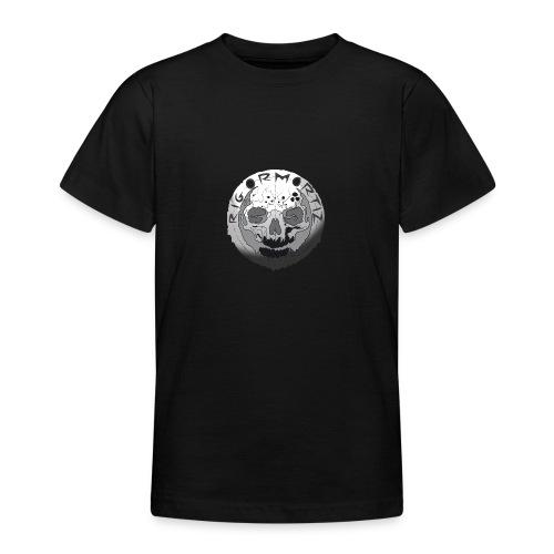 Rigormortiz Black and White Design - Teenage T-Shirt
