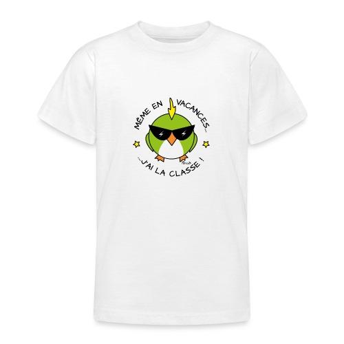 Oiseau Lunettes, Cadeau Instit, J'ai la Classe - T-shirt Ado