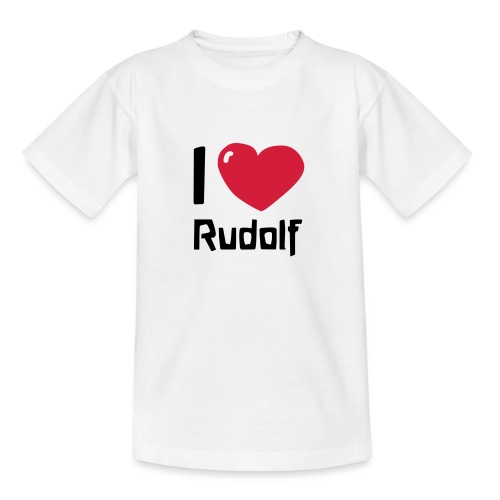 I love Rudolf - Teenager T-Shirt