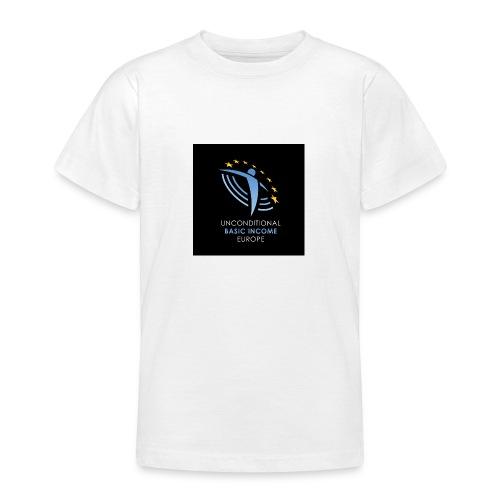 02 ubie on black centered square jpg - Teenager T-shirt