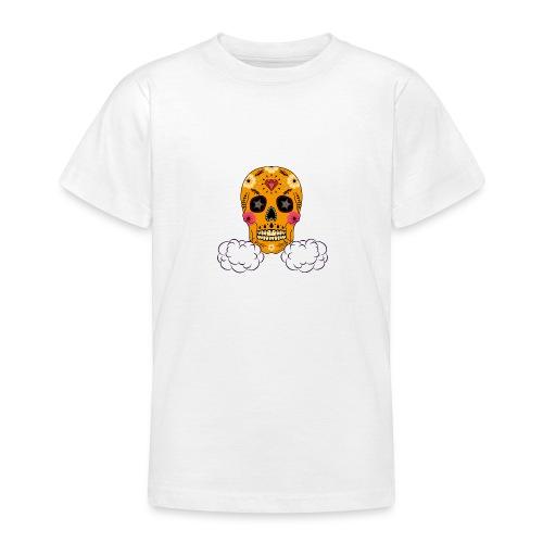 skul orange png - T-shirt Ado