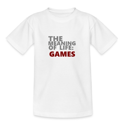 T-Shirt The Meaning of Life - Teenager T-shirt