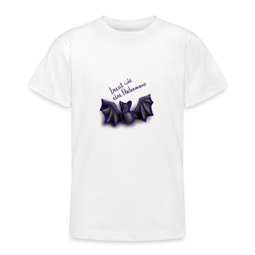 bunt wie eine Fledermaus - Teenager T-Shirt