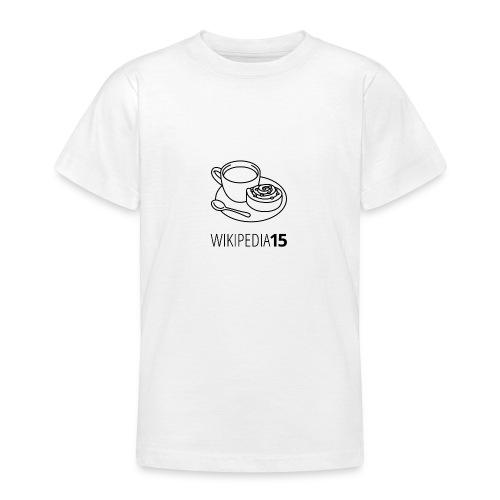 Fika, figursydd, vit - T-shirt tonåring