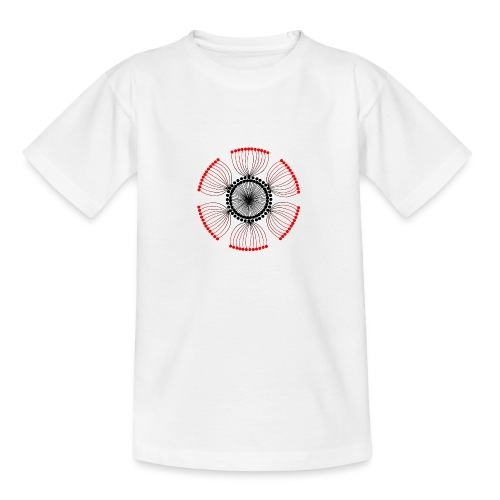 Red Poppy Seeds Mandala - Teenage T-Shirt