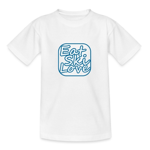 eat ski love - Teenager T-shirt