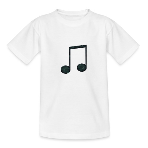 Low Poly Geometric Music Note - Teenage T-Shirt