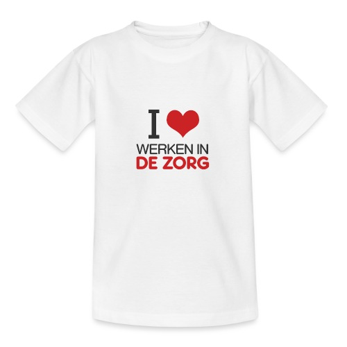 I LOVE Werken in de zorg - Teenager T-shirt
